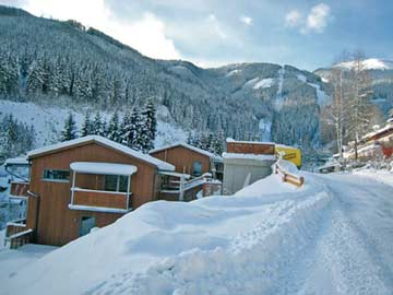Ferienwohnung Schmittenhöhe - das Skigebiet ist im Hintergrund zu erkennen