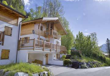 Ferienhaus mit Sauna in Wald-Königsleiten im Sommer