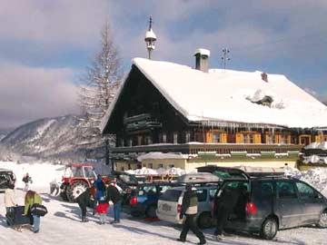 Gruppenhaus Forstau - im Winter