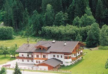 das Gruppenhaus Saalbach im Sommer
