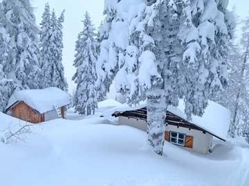 unsere Skihütte Hauser Kaibling direkt unterhalb der Bergstation