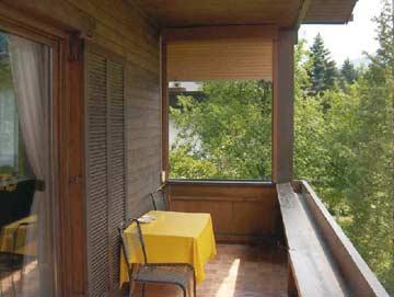 der Balkon im Sommer