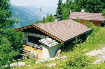 die Skihütte Zell im Sommer