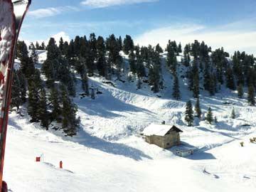 Skihütte Hochoetz - Kühtai - Beste Pistenlage im Skigebiet Hochoetz (Aufnahme aus der Bergbahn)