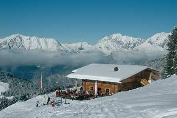 Skihütte Hochoetz - herrliche Lage direkt auf der Skipiste