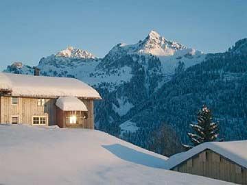 Ferienhaus Walsertal - Winterurlaub mit Aussicht