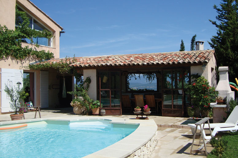 Ferienhaus aix en provence mit pool und herrlicher aussicht - Samengestelde pool weergaven ...