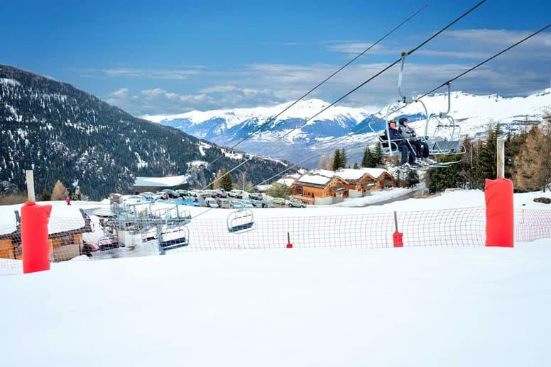 Chalet Ski in - Ski out Les Arcs (das mittlere der drei Chalets)