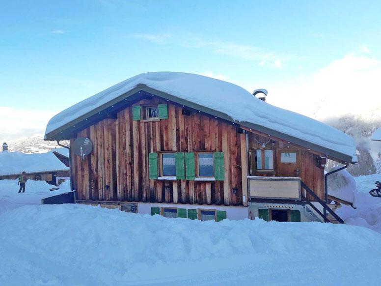 Ferienhütte Garfrescha im Winter