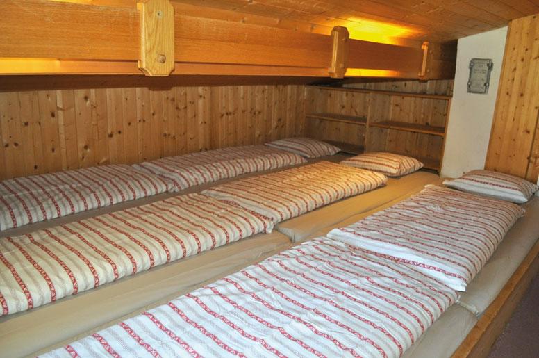 Matratzenlager  Hütte St. Gallenkirch