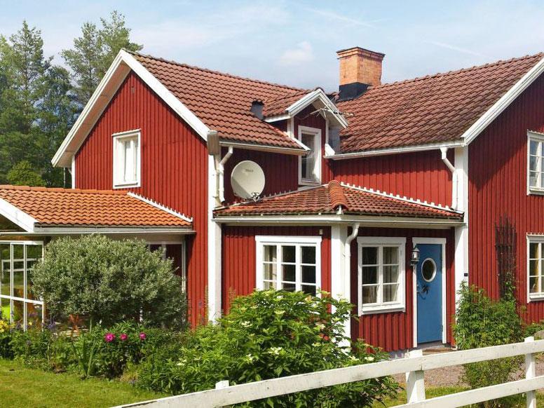 Traditionelles Ferienhaus Västervik 3 km vom Kyrksjön