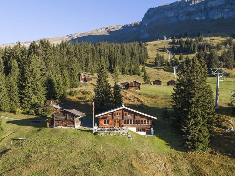 Hütte Flims: herrliche Lage mitten im Wandergebiet Flims