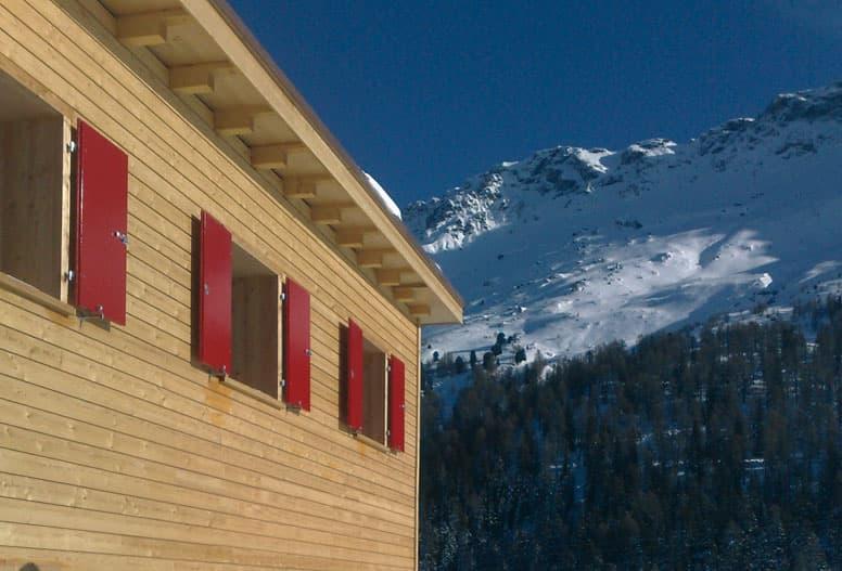 Skihütte Savognin - mitten im Skigebiet