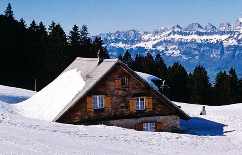 Skihütte Bad Ragaz Pizol im Winter