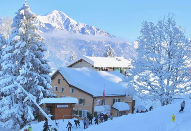 Berghütte Pizol - direkt im Skigebiet