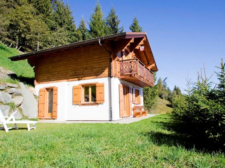 Chalet in Les Collons im Sommer