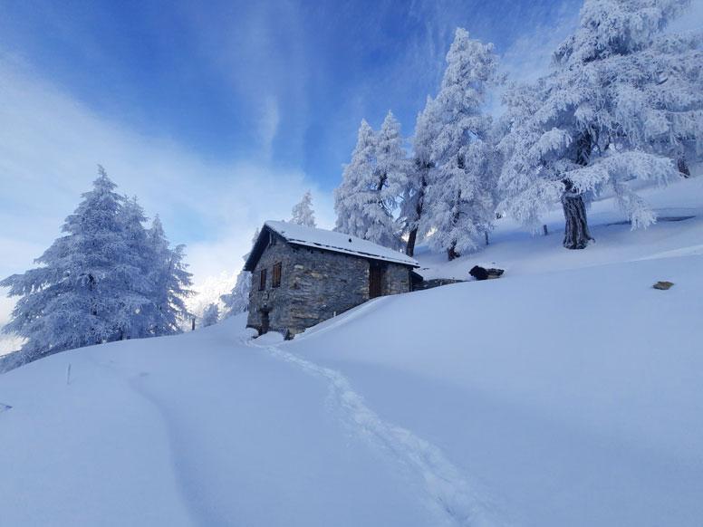 Ski- und Berghütte Bruson - Skiurlaub direkt an der Skipiste!