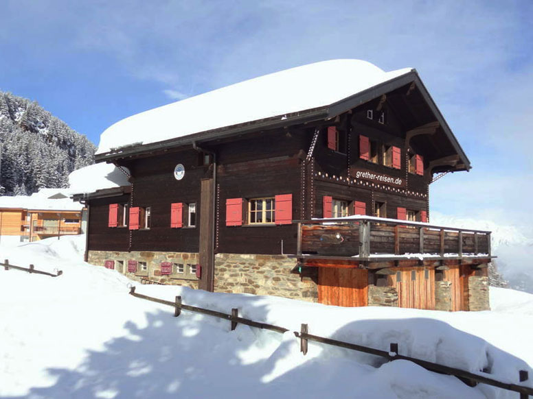 Gruppenhaus Riederalp im Winter