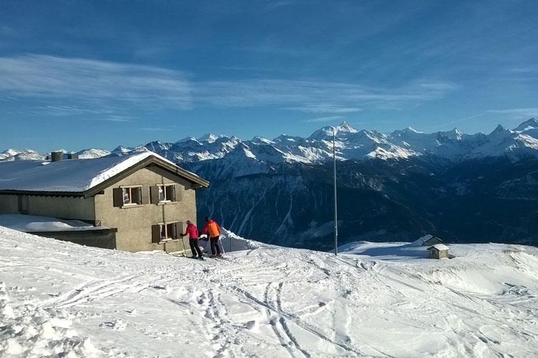 Skihütte Aminona - mitten im Skigebiet Crans-Montana