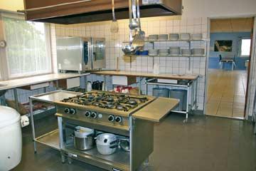 bestens ausgestattete Gruppenküche