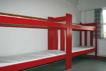 Blick in eines der 6-Bett-Zimmer