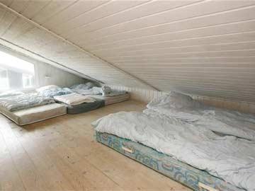 Schlafmöglichkeit für 4 Personen auf dem Schlafboden