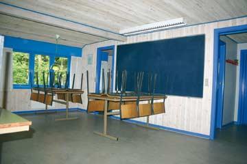 Der Speisesaal mit Platz für 25 Personen