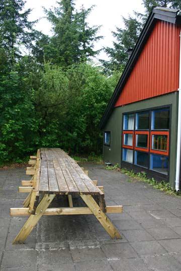 Terrasse am Gruppenhaus Esbjerg