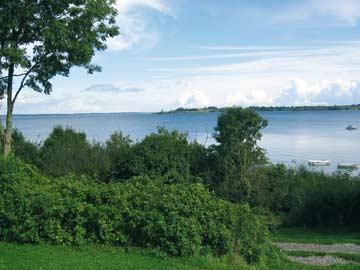 Blick vom Gruppenhaus Aabenraa aufs Meer