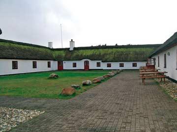 Blick in den windgeschützten Innenhof