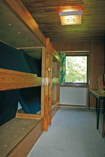 eines der insgesamt acht 6-Bett-Zimmer