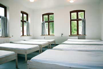 das 8-Bett-Zimmer im EG