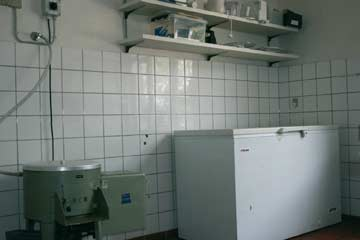 TK-Truhe in der Spülküche