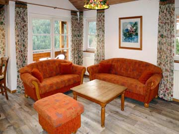 Sitzgarnitur im Wohnzimmer