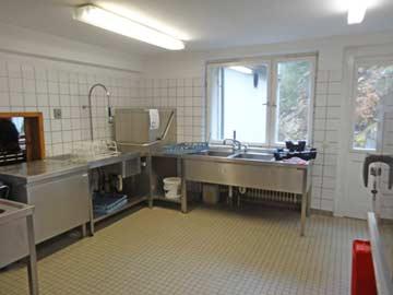 Spülstraße in der Küche