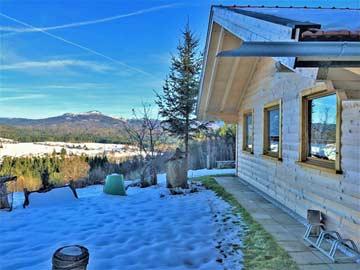 Ferienhütte St. Oswald im Winter