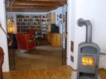 Schwedenofen im Wohnzimmer