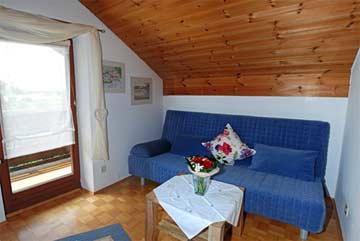 Schlafsofa im Wohn-/Schlafzimmer