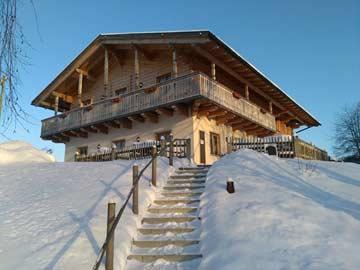Gruppenhaus Arrach im Winter