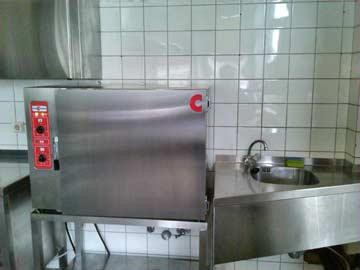 neuer Umluftofen in der Küche