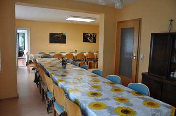 Speise- und Aufenthaltsraum im Hauptgebäude