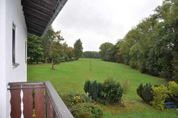 Blick vom Balkon (Aufnahme im September bei Schlechtwetter)