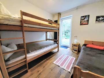 das 3-Bett-Zimmer im 1. OG