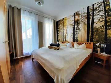 das 2-Bett-Zimmer im Anbau