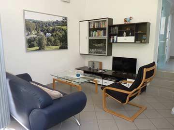 Wohn- und Esszimmer in der Mansarde