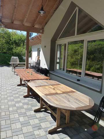 Terrasse für ca. 20 Personen