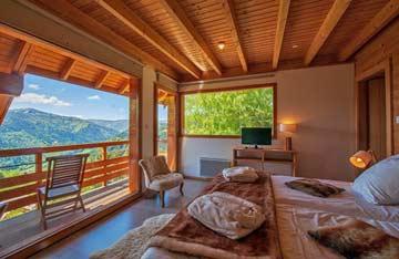 Schlafzimmer mit herrlicher Aussicht