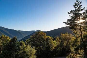 schöne Aussicht auf die Gipfel der Vogesen