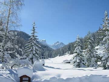 Herrliche Natur und Winterwanderwege in der Nähe des Chalets