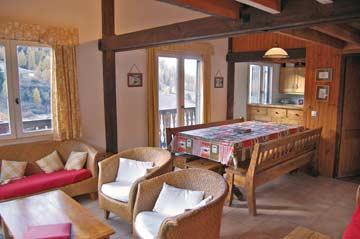 Schöner, großer Wohnraum im Chalet La Plagne 1800